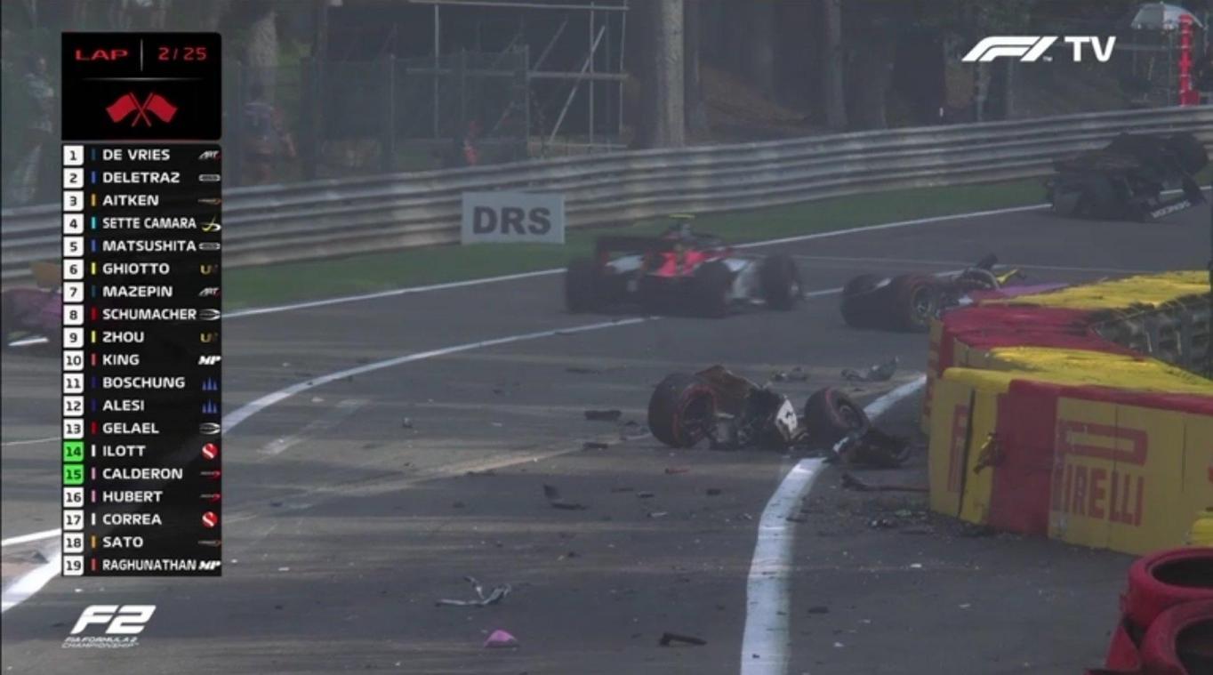 Unfall Formel 2 Video