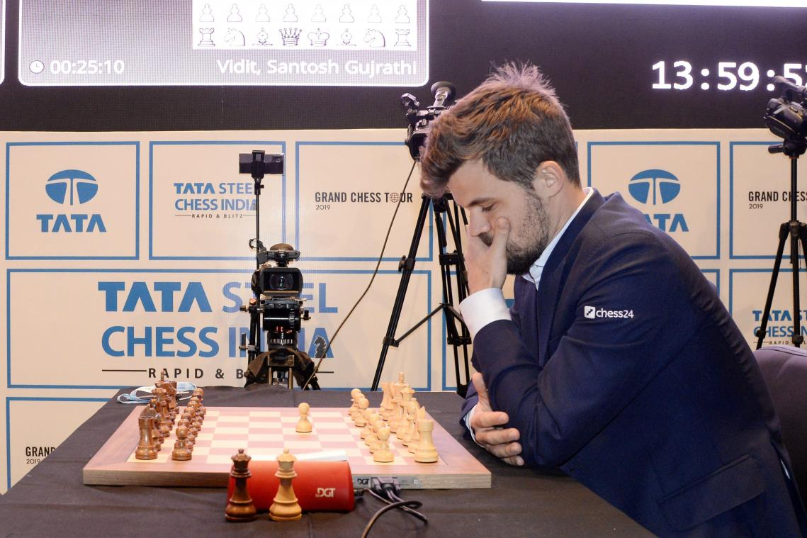 <p>Magnus Carlsen in Aktion</p>