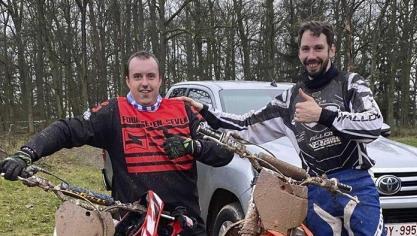 <p>Alain Voermans (r.) und sein Trainingspartner Marc Wieczorek (St.Vith).</p>